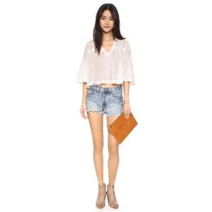 Free People High Rise Jean Shorts Size 27
